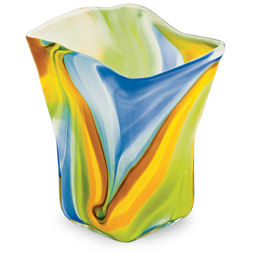 Vega Medium Pot Vase 2 Malta,Glass Vega Malta, Glass Vega, Mdina Glass