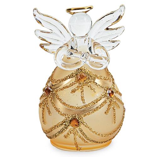 Round Gold Angel with Jewels Malta,Glass Decorative Angels Malta, Glass Decorative Angels, Mdina Glass