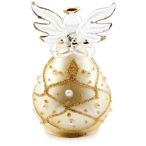Round Gold Angel with Pearls Malta,Glass Decorative Angels Malta, Glass Decorative Angels, Mdina Glass