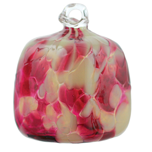 Candy Pink Square Bauble Malta,Glass Baubles Malta, Glass Baubles, Mdina Glass
