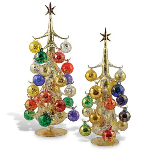 Miniature Tree With Coloured Balls Gold Malta Christmas Malta