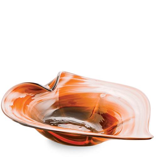 Zulu Medium Leaf Bowl Malta,Glass Zulu Malta, Glass Zulu, Mdina Glass