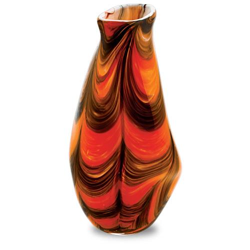 Zulu Medium Tall Double Swirl Vase Malta,Glass Zulu Malta, Glass Zulu, Mdina Glass