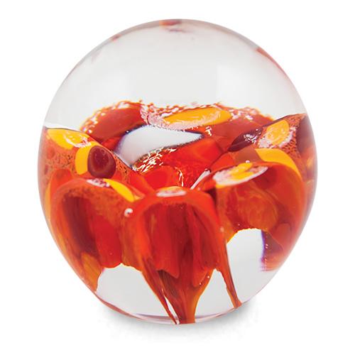 Small Round Flower Paperweight Malta,Glass Paperweights Malta, Glass Paperweights, Mdina Glass
