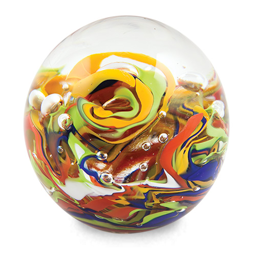 Small Round Paperweight Malta,Glass Paperweights Malta, Glass Paperweights, Mdina Glass