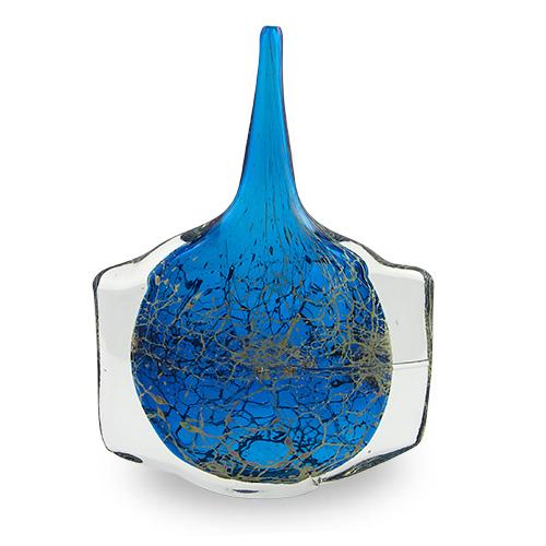 Large Blue Crysal Fish Vase Malta,Glass Classics Malta, Glass Classics, Mdina Glass