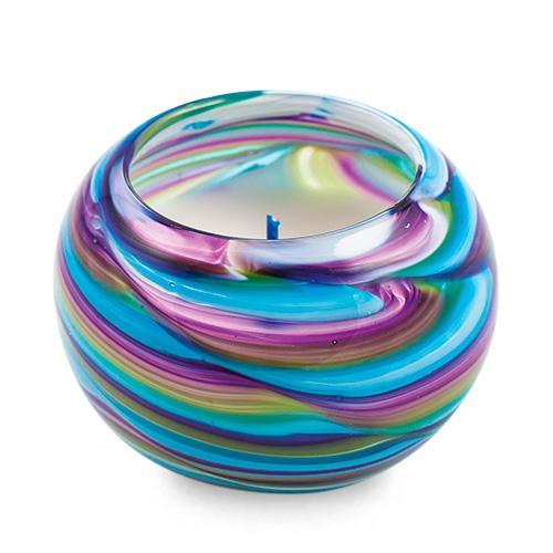 Miniature Round Candleholder Malta,Glass Scented Candleholders Malta, Glass Scented Candleholders, Mdina Glass