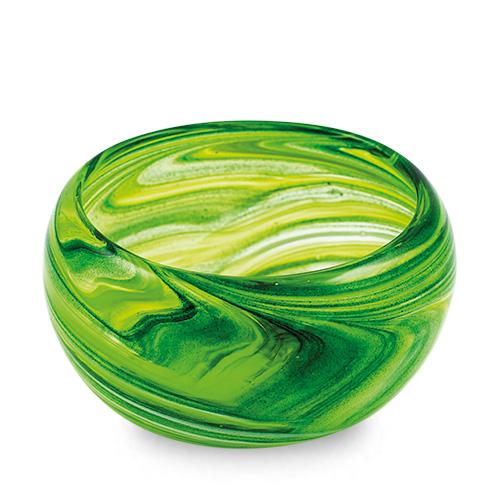 Green Miniature Orbit Bowl Malta,Glass Serving Bowls Malta, Glass Serving Bowls, Mdina Glass