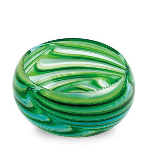 Turquoise & Greens Miniature Orbit Bowl Malta,Glass Serving Bowls Malta, Glass Serving Bowls, Mdina Glass
