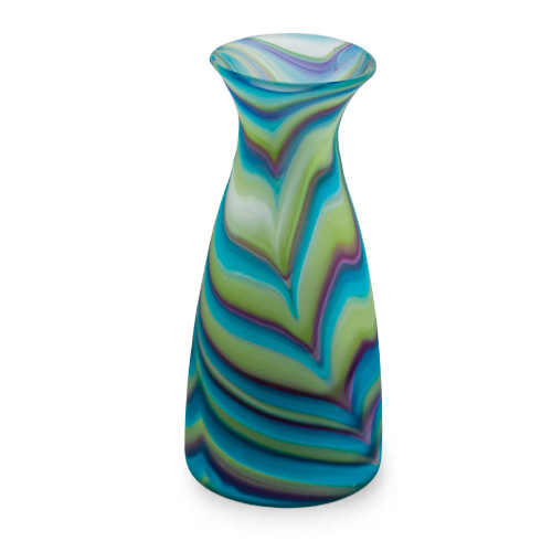Malta,  Malta,Glass Lifestyle Malta,Glass Lifestyle, Turquoise with Purple & Green Carafe Frosted Malta, Mdina Glass Malta