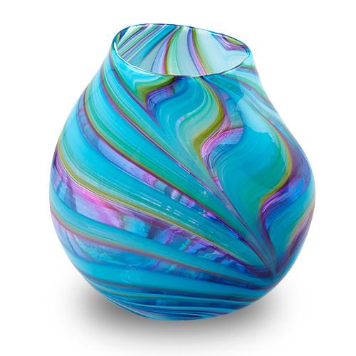 Lifestyle 'D' Large Double Swirl Vase Malta,Glass Lifestyle 'D' Malta, Glass Lifestyle 'D', Mdina Glass