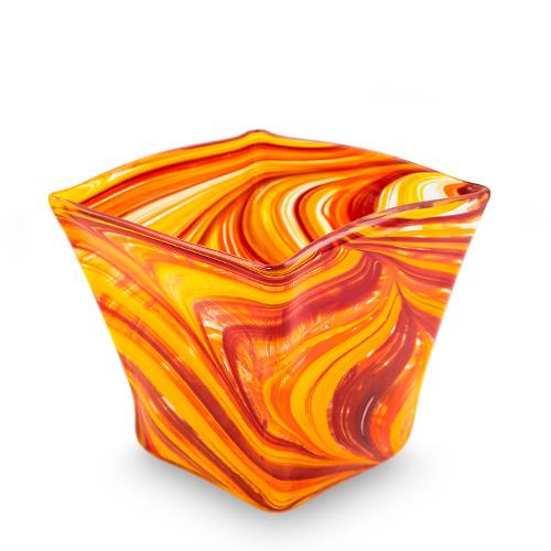 Lifestyle 'B' Medium Pot Vase 2 Malta,Glass Lifestyle 'B' Malta, Glass Lifestyle 'B', Mdina Glass