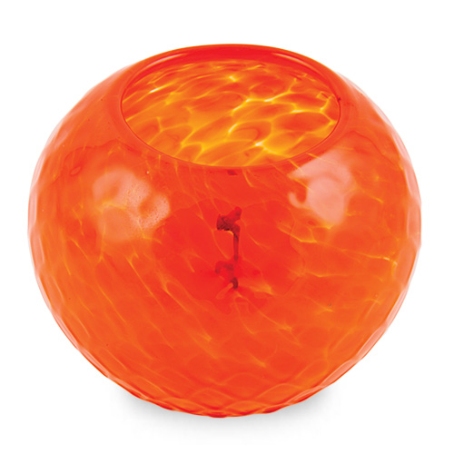 Miniature Round Candleholder (Orange) Malta,Glass Scented Candleholders Malta, Glass Scented Candleholders, Mdina Glass