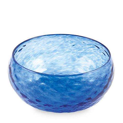 Iris Blue Salad Bowl Malta,Glass Textured Range Malta, Glass Textured Range, Mdina Glass
