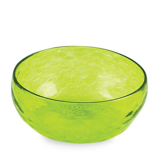 Lemon Green Salad Bowl Malta,Glass Textured Range Malta, Glass Textured Range, Mdina Glass