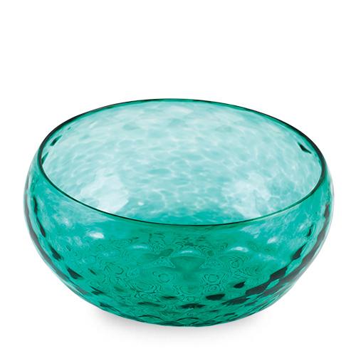 Mint Green Salad Bowl Malta,Glass Textured Range Malta, Glass Textured Range, Mdina Glass