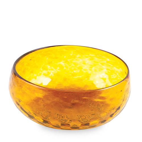 Amber Salad Bowl Malta,Glass Textured Range Malta, Glass Textured Range, Mdina Glass