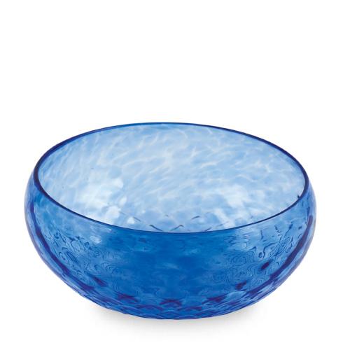 Iris Blue Cracker Bowl Malta,Glass Textured Range Malta, Glass Textured Range, Mdina Glass