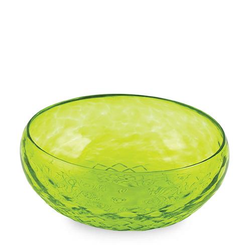 Lemon Green Cracker Bowl Malta,Glass Textured Range Malta, Glass Textured Range, Mdina Glass