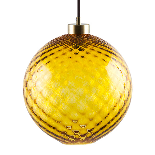 Medium ball hanging light with brushed brass light fitting maltaglass ball hanging lights malta