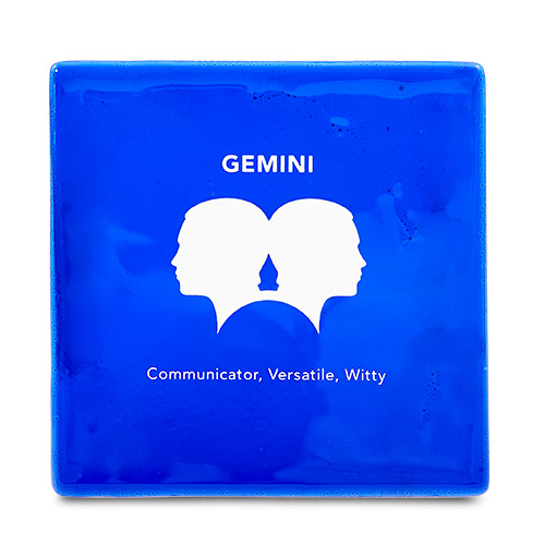 Gemini Coaster Malta,Glass Zodiac Coasters Malta, Glass Zodiac Coasters, Mdina Glass