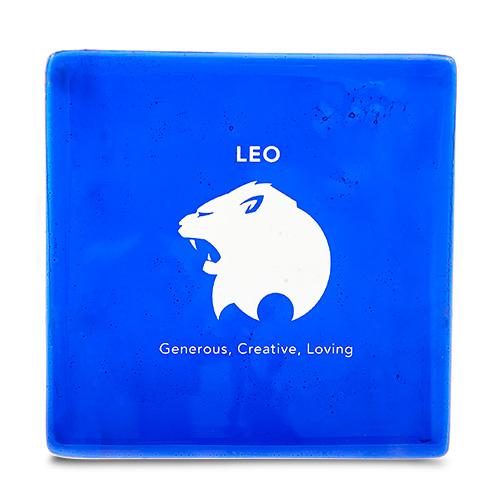 Leo Coaster Malta,Glass Zodiac Coasters Malta, Glass Zodiac Coasters, Mdina Glass