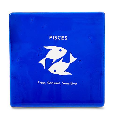 Pisces Coaster Malta,Glass Zodiac Coasters Malta, Glass Zodiac Coasters, Mdina Glass
