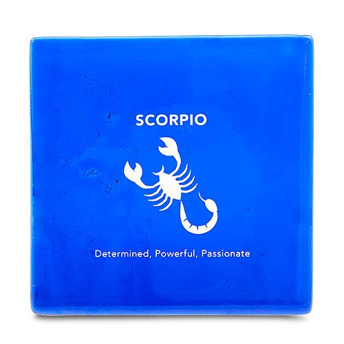Scorpio Coaster Malta,Glass Zodiac Coasters Malta, Glass Zodiac Coasters, Mdina Glass