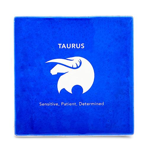 Taurus Coaster Malta,Glass Zodiac Coasters Malta, Glass Zodiac Coasters, Mdina Glass