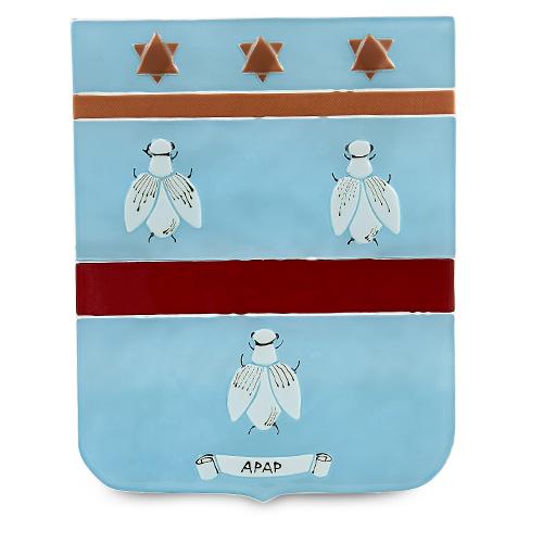 Family Crest: Apap Malta,Glass Family Crests Malta, Glass Family Crests, Mdina Glass
