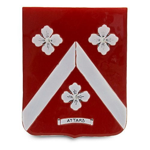 Family Crest: Attard Malta,Glass Family Crests Malta, Glass Family Crests, Mdina Glass