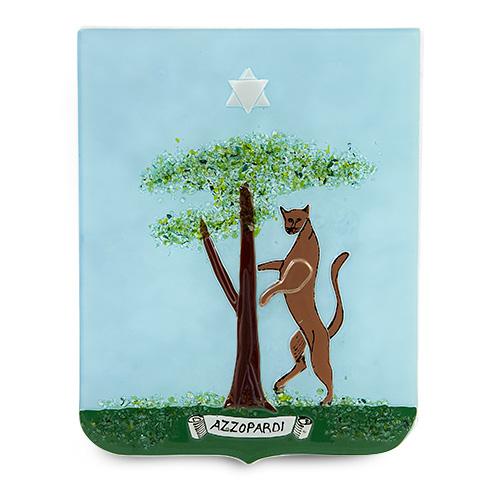 Family Crest: Azzopardi Malta,Glass Family Crests Malta, Glass Family Crests, Mdina Glass