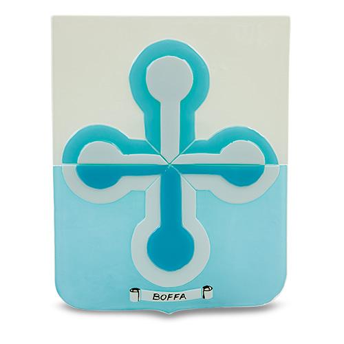 Family Crest: Boffa Malta,Glass Family Crests Malta, Glass Family Crests, Mdina Glass
