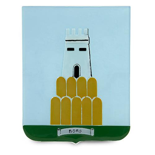 Family Crest: Borg Malta,Glass Family Crests Malta, Glass Family Crests, Mdina Glass