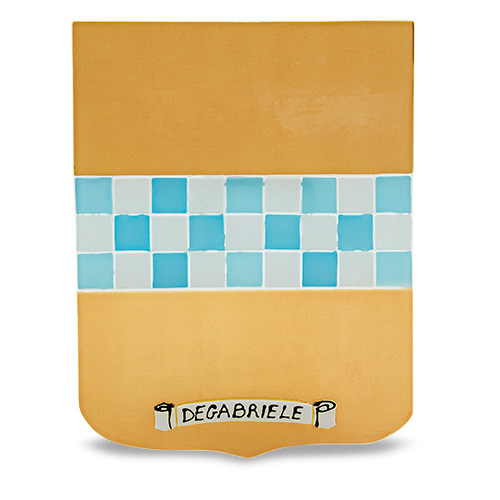 Family Crest: Degabriele Malta,Glass Family Crests Malta, Glass Family Crests, Mdina Glass