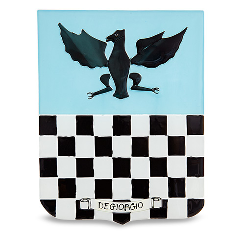 Family Crest: Degiorgio Malta,Glass Family Crests Malta, Glass Family Crests, Mdina Glass
