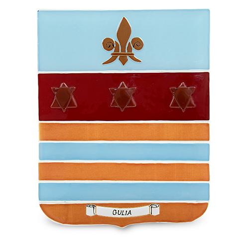 Family Crest: Gulia Malta,Glass Family Crests Malta, Glass Family Crests, Mdina Glass