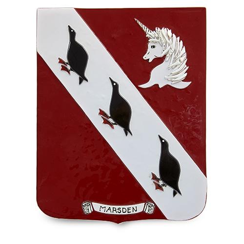 Family Crest: Marsden Malta,Glass Family Crests Malta, Glass Family Crests, Mdina Glass