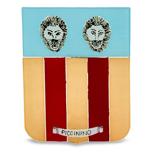 Family Crest: Piccinino Malta,Glass Family Crests Malta, Glass Family Crests, Mdina Glass