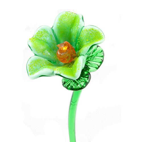 Light Green Flower Malta,Glass Flowers Malta, Glass Flowers, Mdina Glass