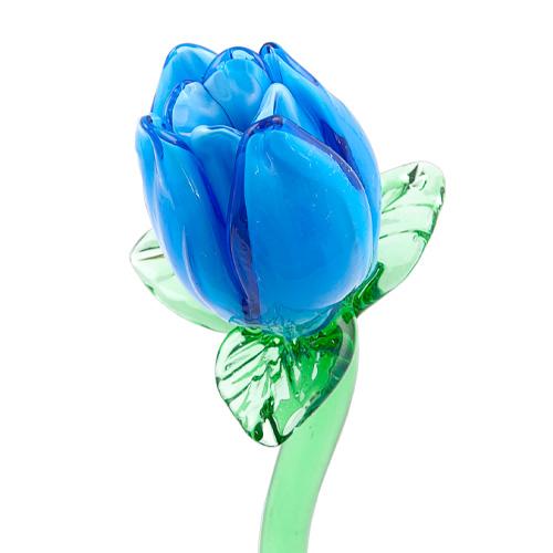 Light Blue Tulip Malta,Glass Flowers Malta, Glass Flowers, Mdina Glass