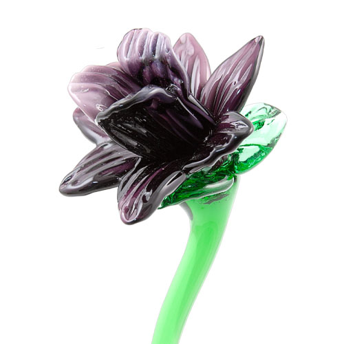 Purple Flower Malta,Glass Flowers Malta, Glass Flowers, Mdina Glass
