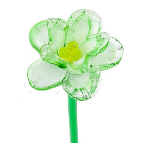 Malta,  Malta,Glass Flowers Malta,Glass Flowers, White & Green Flower Malta, Mdina Glass Malta
