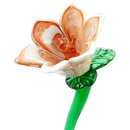 Brown & White Flower Malta,Glass Flowers Malta, Glass Flowers, Mdina Glass