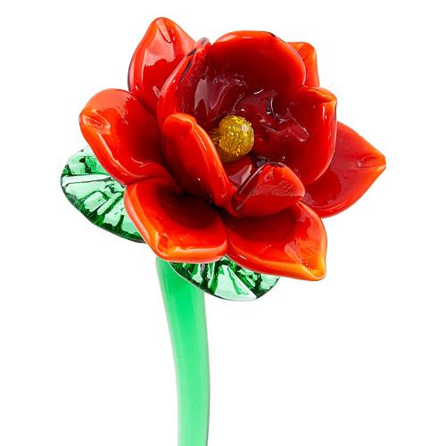 Red Flower 3 Malta,Glass Flowers Malta, Glass Flowers, Mdina Glass