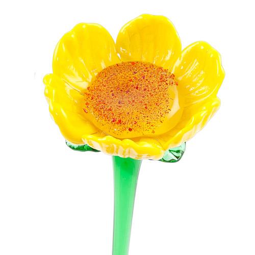 Sunflower Malta,Glass Flowers Malta, Glass Flowers, Mdina Glass