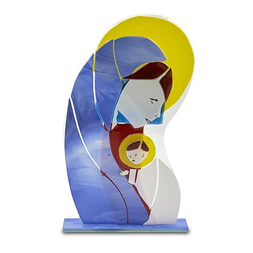 Holy Mary & Jesus Malta,Glass Christmas Fusion Malta, Glass Christmas Fusion, Mdina Glass