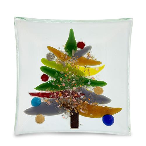Malta,  Malta, Plate with Christmas Tree Malta, Fusion Malta, Mdina Glass Malta