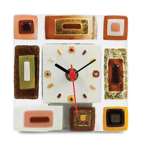 Square Collage Square Clock Malta,Glass Clocks Malta, Glass Clocks, Mdina Glass