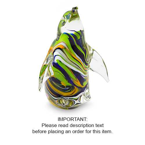 Malta,  Malta,Glass Sculptures Malta,Glass Sculptures, Small Coloured Penguin Malta, Mdina Glass Malta
